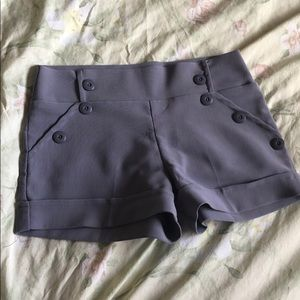 Small high-waisted lavender shorts